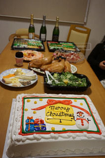 ケーキ,クリスマス,美味しい,パーティー,ごちそう