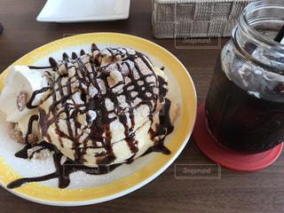 スイーツ,カフェ,ケーキ,デザート,ふわふわ,生クリーム,チョコレート,ホットケーキ