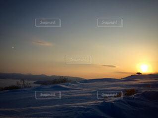 空,冬,夕日,北海道,美幌峠