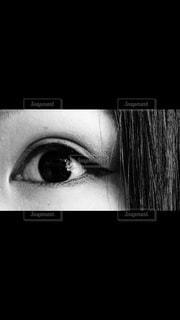 モノクロ,白黒,アップ,目,左目
