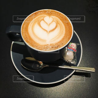 カフェ,コーヒー,落ち着いた,ハート,癒し,カフェラテ,ラテアート,あったかい
