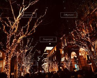 都会の夜の花火の写真・画像素材[938764]