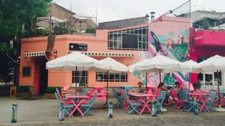 カフェ,ピンク,かわいい,水色,オシャレ,アルゼンチン,ブエノスアイレス