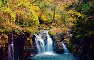 水の体の上の大きな滝 - No.874457