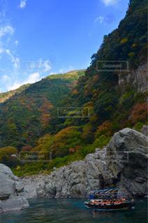 背景の山と水体 - No.878838