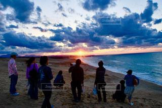 海,夕日,夕焼け,夕暮れ,観光,黄昏,鳥取,鳥取砂丘,山陰