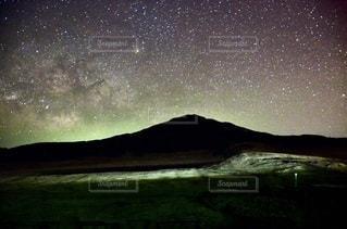 阿蘇の星空の写真・画像素材[3397123]