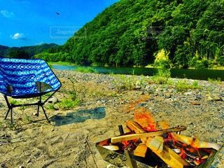 ソロキャンプの写真・画像素材[3522380]