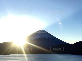 自然,空,富士山,太陽,朝日,正月,日本,お正月,日の出,新年,初日の出,縁起,定番