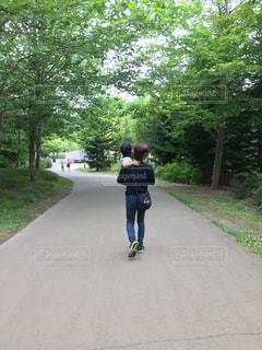 公園,親子,父,子