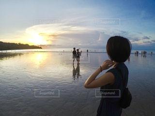 綺麗な夕日にうっとりです。の写真・画像素材[1198293]