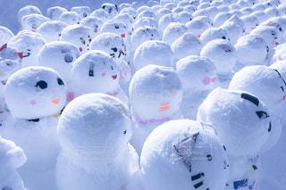 近くの束のぬいぐるみし、雪で覆われています。の写真・画像素材[1784280]