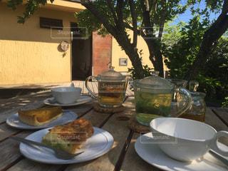 カフェ,テラス,リラックス,cafe,ハーブティー,tea