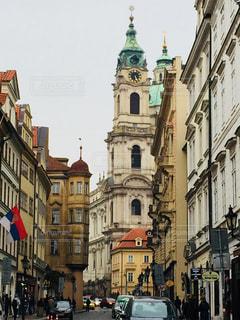 チェコ プラハ歴史地区の街並♪の写真・画像素材[822871]