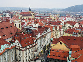 チェコ プラハ。旧市庁舎から見た街並♪の写真・画像素材[822927]