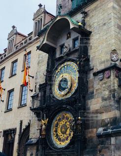 チェコ プラハ 旧市庁舎の天文時計♪の写真・画像素材[829408]