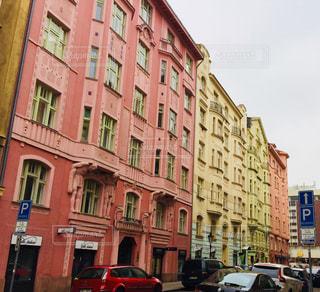 チェコ プラハのカラフルな建物♪の写真・画像素材[844241]
