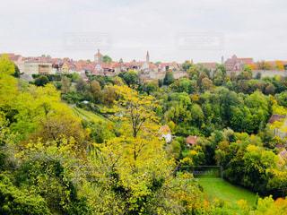 街の外れから見たドイツ ローデンブルク♪の写真・画像素材[879714]