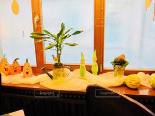 パンプキンや人形、観葉植物の秋色オブジェ♪ - No.891575