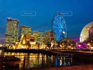 横浜 みなとみらいの夜景♪の写真・画像素材[1020354]