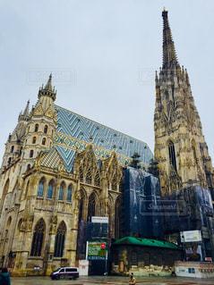 オーストリア ウィーン。修復中のシュテファン大聖堂♪の写真・画像素材[1027689]