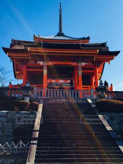 京都 清水寺。太陽の光と共に♪の写真・画像素材[1030157]
