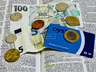 「投資」の英単語「investment」&外国通貨♪の写真・画像素材[1067504]