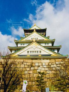 青空に映える大阪城♪の写真・画像素材[1101390]