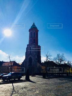 ブダペスト 漁夫の砦で撮影した青空♪の写真・画像素材[1103674]