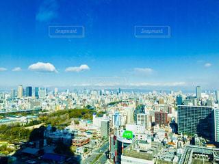 大阪 あべのハルカスからの青空♪の写真・画像素材[1121976]