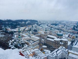 オーストリア ザルツブルクの雪景色の写真・画像素材[1785291]