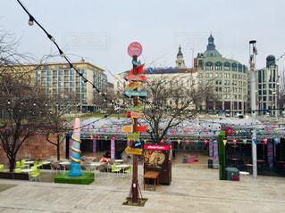 ハンガリー ブダペスト デアーク・フェレンツ広場♪の写真・画像素材[1797917]