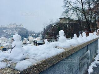 オーストリア ザルツブルク。高台からの景色&雪だるま♪の写真・画像素材[1800764]