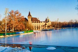 ハンガリー ブダペストのアイススケート場♪の写真・画像素材[1811040]