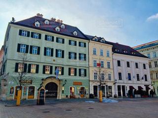 スロバキア 首都ブラチスラバ。可愛いらしい街並み♪の写真・画像素材[1813847]