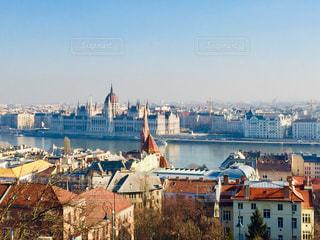 ハンガリー ブダペスト。冬の街並み♪の写真・画像素材[1816390]