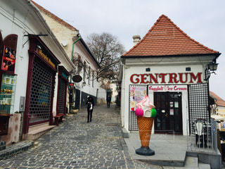 ハンガリーの田舎町センテンドレ。街のアイスクリーム屋さん♪の写真・画像素材[1830360]