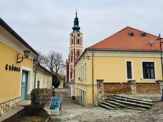 ハンガリーの田舎町センテンドレの街並み♪の写真・画像素材[1831379]