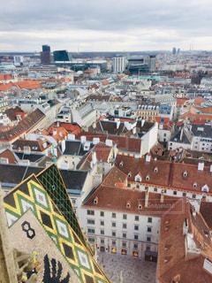 オーストリア ウィーン。シュテファン大聖堂からの街並み♪の写真・画像素材[1840420]