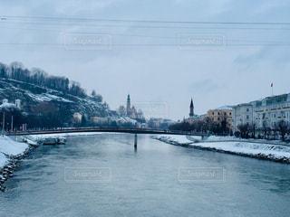 オーストリア ザルツブルクの雪景色🇦🇹の写真・画像素材[1853912]