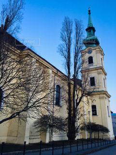 ハンガリー ブダペスト。街中の教会⛪️の写真・画像素材[1855413]