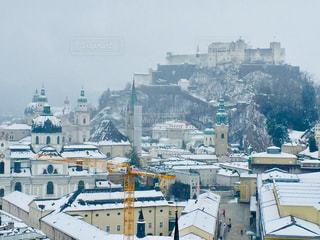 オーストリア ザルツブルク🇦🇹 ザルツブルク城を背にした街並み♪の写真・画像素材[1857494]
