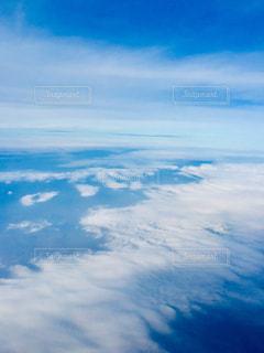飛行機の機内から撮影した上空写真✈️の写真・画像素材[1860769]