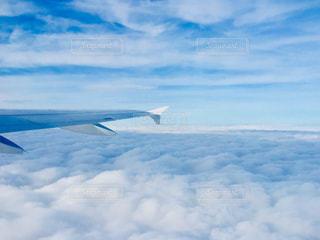 機内からの上空写真✈️の写真・画像素材[1866663]