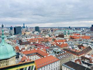 曇り空に広がるオーストリア ウィーンの街並み🇦🇹の写真・画像素材[1881532]