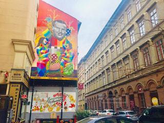 ハンガリー ブダペスト。壁に描かれた落書き🇭🇺の写真・画像素材[2040781]