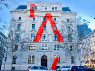 オーストリア ウィーン。Aと描かれた建物♪の写真・画像素材[2235295]