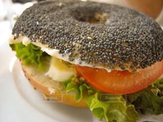 ベーグルのサンドイッチ - No.771817