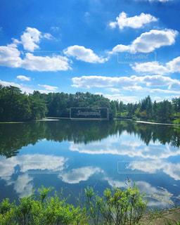 空,秋,雲,晴れ,池,快晴,秋晴れ,秋空