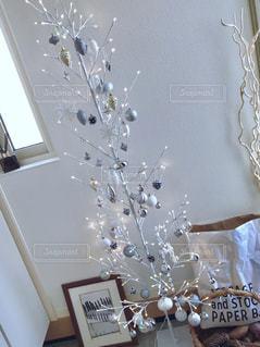 冬,白,クリスマス,ホーム,クリスマスツリー,ホワイト,北欧風,北欧インテリア,Xmas,ブランチツリー